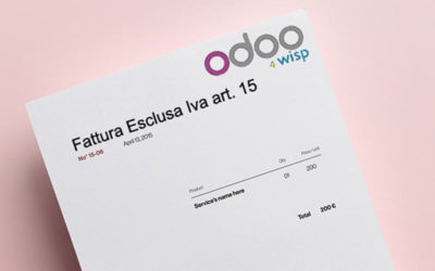 Esclusione IVA art. 15: come gestire l'imposta con Odoo 4 Wisp