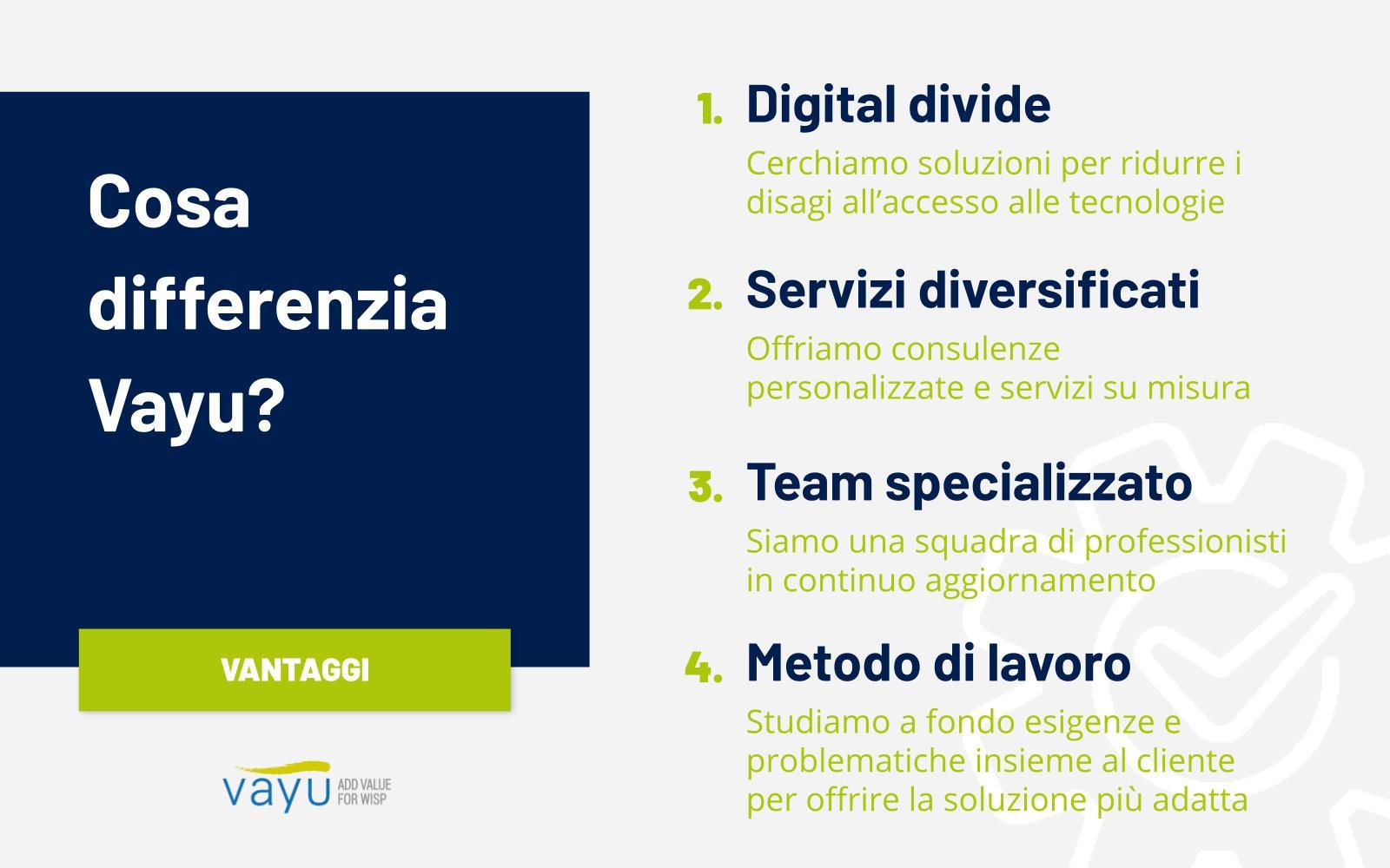 Wisp e Isp italiani scelgono Vayu: scopri in cosa si differenziano dai competitor